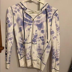 Purple and white tie dye sweatshirt